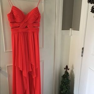 Arden B Coral Long Prom Dress Size Small